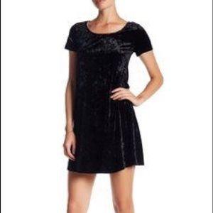 Socialite black velvet dress XL